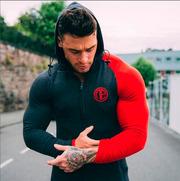 Спортивная куртка GLOBESKY темно-серая с красным значком